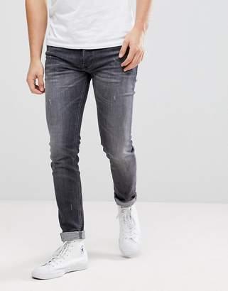 Diesel Sleenker Jeans in Gray Wash