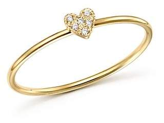 Rachel Zoe Zoë Chicco 14K Yellow Gold Tiny Diamond Heart Ring