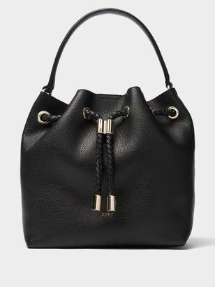 DKNY Alice Large Leather Bucket Bag
