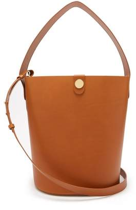 Sophie Hulme Large Swing Leather Bucket Bag - Womens - Tan