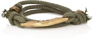 Giles and Brother Men's Rope Wrap Bracelet - Green
