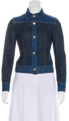 Alexander McQueen Colorblock Denim Jacket blue Colorblock Denim Jacket