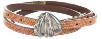 Kieselstein-Cord Sterling Lizard Belt