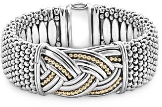 Lagos 18K Gold & Sterling Silver Torsade Rope Station Bracelet, 23mm