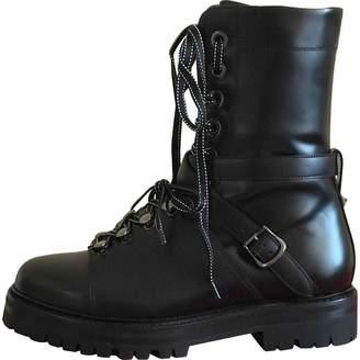 Valentino Leather Biker Boots