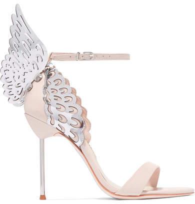 Sophia Webster - Evangeline Leather Sandals - Pastel pink