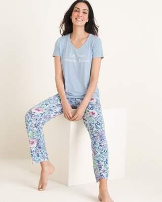 133a6e4590e1f Chico's Soma For Kaleidoscope-Print Pajamas and Eye Mask Set