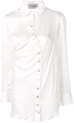 Balossa White Shirt crooked silk shirt