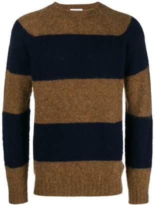 Officine Generale striped knit sweater