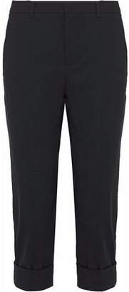 RED Valentino Cropped Cotton-Blend Slim-Leg Pants