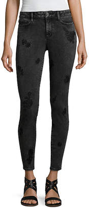 A.N.A Acid Wash Embroidered Jeggings - Tall
