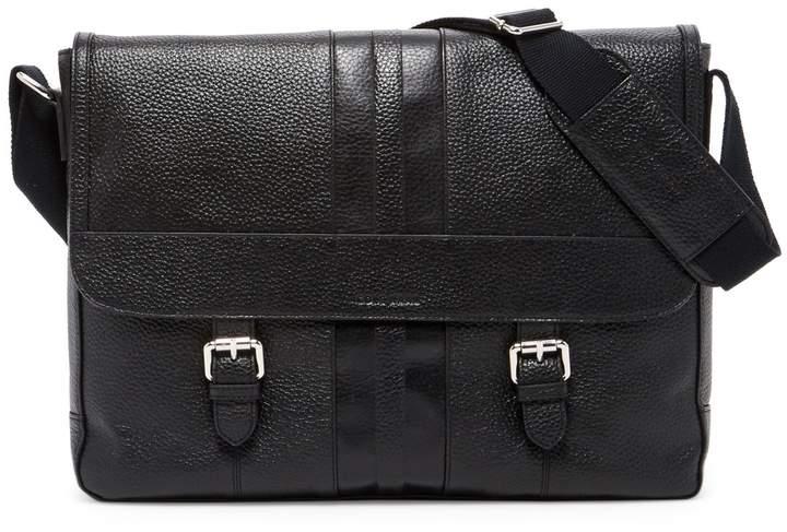 Cole Haan Pebbled Leather Messenger Bag
