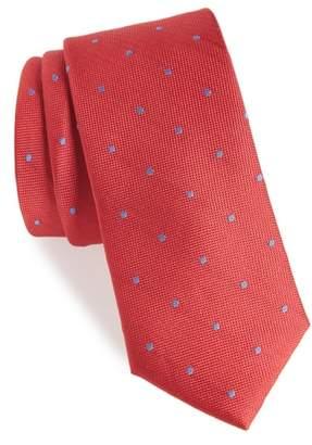 1901 Arnet Dot Skinny Silk Tie