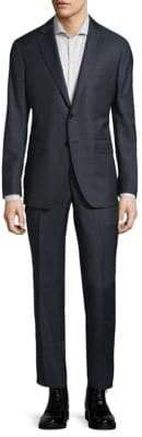 Saks Fifth Avenue Modern-Fit Plaid Wool Suit