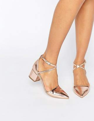 Avia Raid Rose Gold Point Mid Heeled Shoes