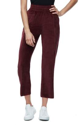 Good American The High Waisted Velour Pant