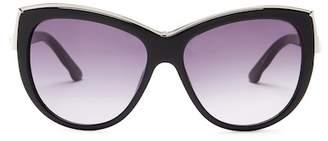 Swarovski Women's Elena Crystal Accented Oversized Cat Eye Sunglasses $184 thestylecure.com