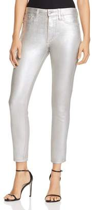 Joe's Jeans Charlie Ankle Jeans in Metallic Coated Silver