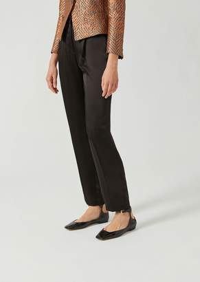 Emporio Armani Slim Fit Smooth Double-Faced Satin Trousers
