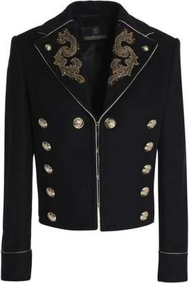 Roberto Cavalli Embellished Wool-Blend Jacket