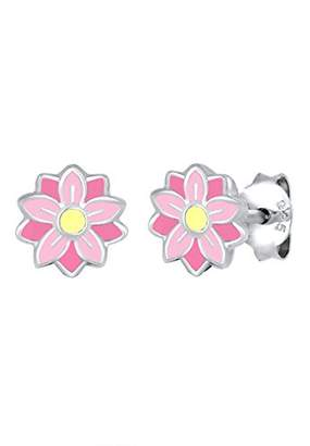 Elli Children genuine jewellery Earring Earstud Kids Girl Daugther Flowers Floral Nature Filigran Subtle Delicate Pastel Enamel Sterling Silver 925