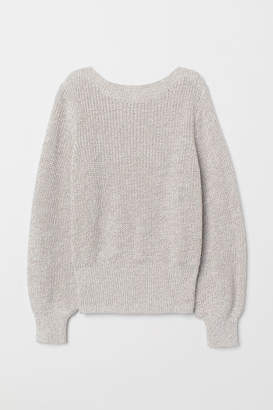 H&M Rib-knit Sweater - Beige