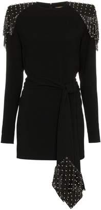 Saint Laurent studded chainmail dress