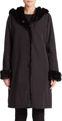 Jane Post Women's Faux Fur-Lined Princess Coat