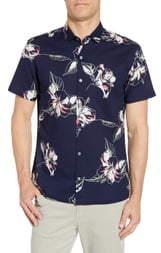Tori Richard Silhouette Regular Fit Seersucker Shirt