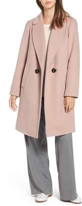 Rachel Roy Double Breasted Wool Blend Coat