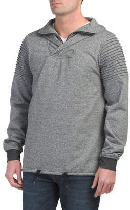 Crossover Moto Hoodie With Zipper