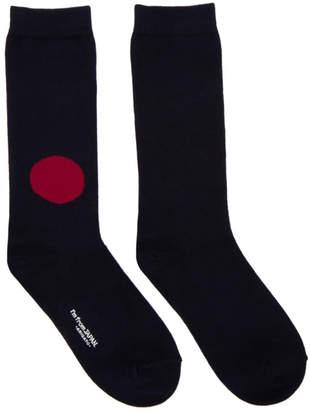 Blue Blue Japan Navy Japan Flag Socks