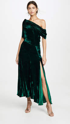 Azeeza Mittio One Shoulder Velvet Dress
