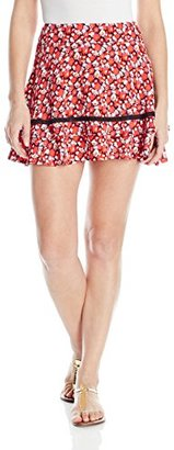 Juicy Couture Black Label Women's Marina Floral Printed Mini Skirt $76.17 thestylecure.com
