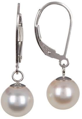 TARA Pearls Sterling Silver 8-8.5mm Akoya Pearl Drop Earrings