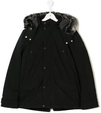 HUGO BOSS TEEN hooded parka coat