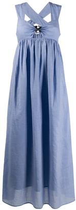 Marysia Swim gingham flare dress