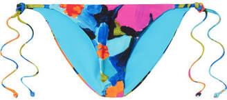 Mara Hoffman Rae Floral-print Bikini Briefs - Blue