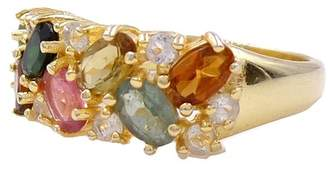 Savvy Cie 18K Gold Vermeil Multi Tourmaline Ring