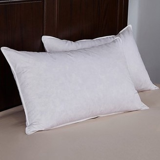 Peace Nest White Ergonomic Feather & Down Pillow, King Size - Set of Two