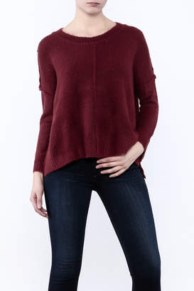 Olivaceous Fuzzy Boxy Sweater $80 thestylecure.com