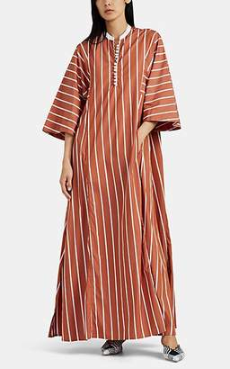Thierry Colson Women's Rachel Striped Cotton Caftan - Brown
