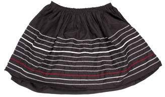 Band Of Outsiders Embroidered Mini Skirt
