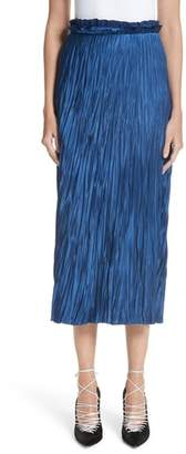 Jason Wu Pleated Satin Skirt