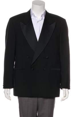 Hardy Amies Wool Peak-Lapel Blazer black Wool Peak-Lapel Blazer