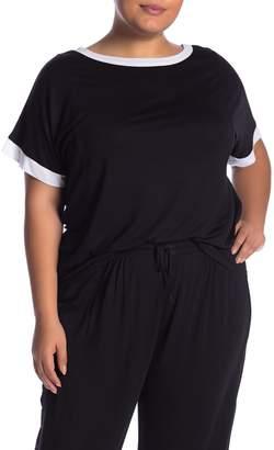 DKNY Short Sleeve Short Shirt (Plus Size)
