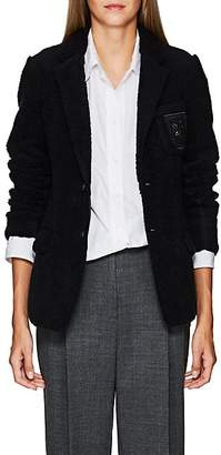 "Undercover Women's ""We Are Infinite""-Patch Wool-Blend Sherpa Blazer - Navy"