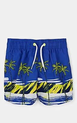 Sundek Kids' Beach-Print Drawstring Swim Trunks - Blue