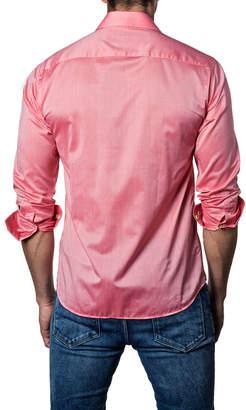 Jared Lang Men's Contrast-Cuff Button-Down Sport Shirt