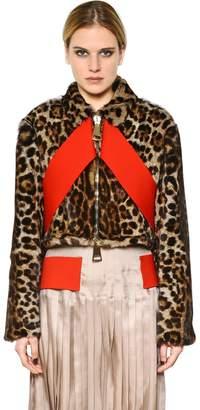 Givenchy (ジバンシイ) - Givenchy Leopard Printed Marmot Fur Jacket